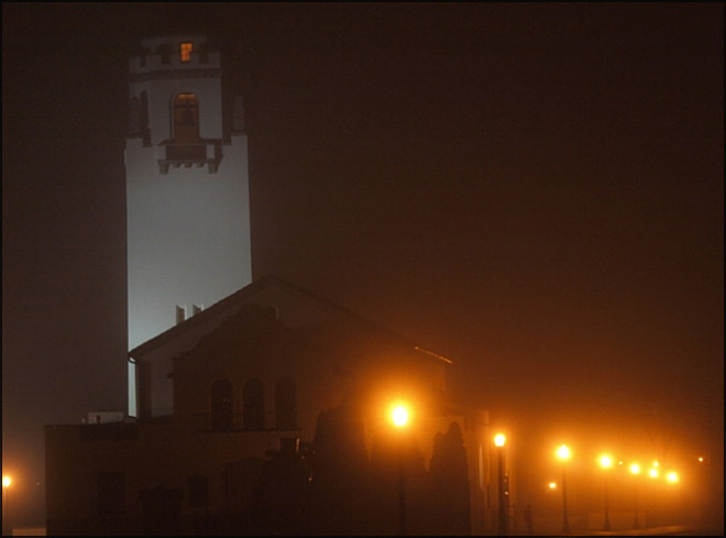 Depot under the fog