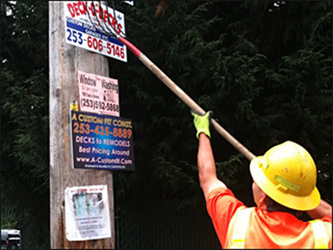 Pierce County cracking down on illegal signs