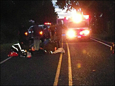Motorcyclist in critical condition after hitting deer
