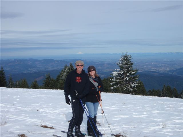 Florence couple goes skiing on Mary's Peak west of Corvallis